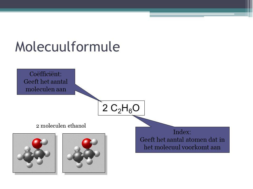 Atoombinding Er zijn ook atomen die meer dan een covalentie hebben. Bijvoorbeeld: Zwavel (S)  covalentie 2, 4 en 6