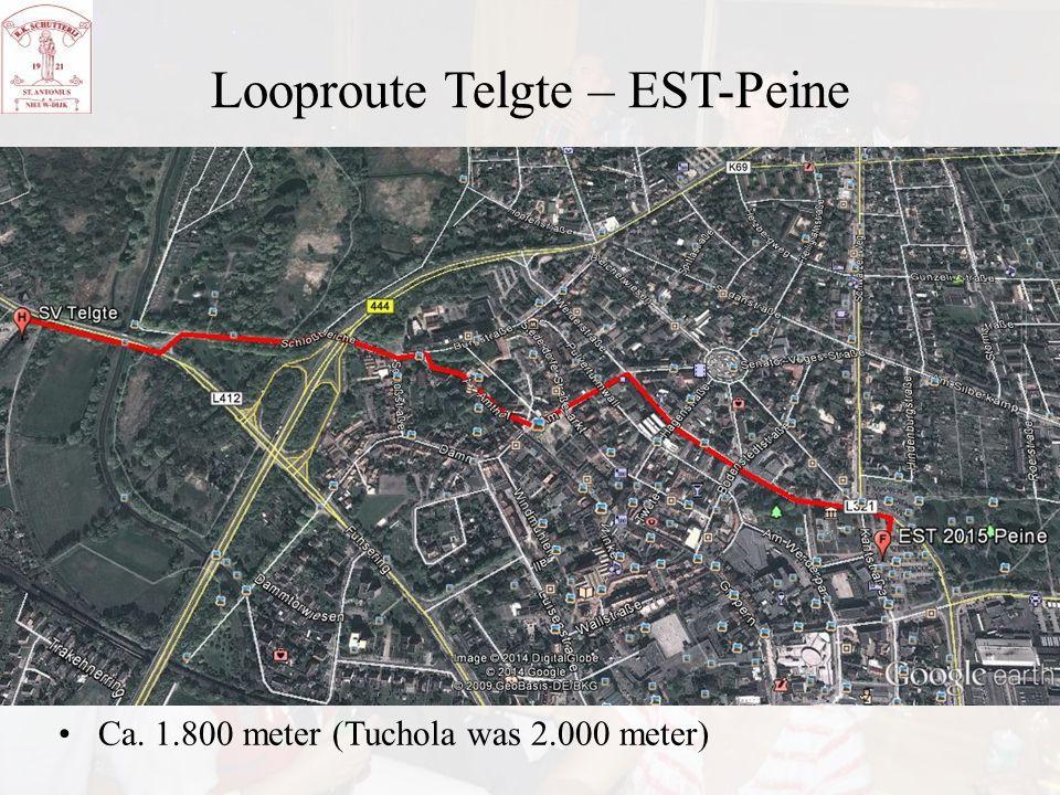 Looproute Telgte – EST-Peine Ca. 1.800 meter (Tuchola was 2.000 meter)