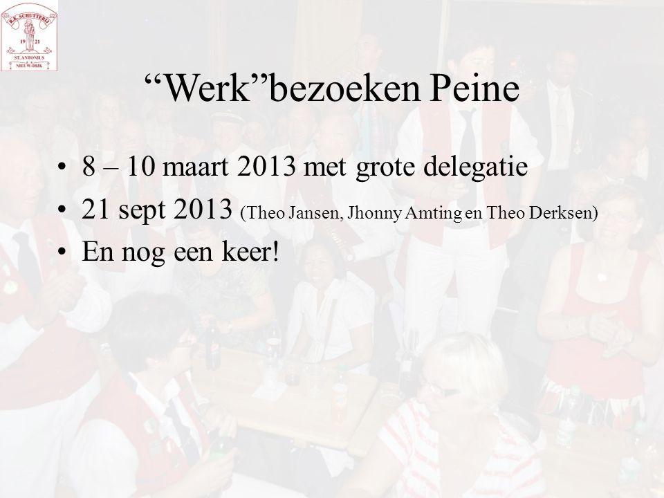 """""""Werk""""bezoeken Peine 8 – 10 maart 2013 met grote delegatie 21 sept 2013 (Theo Jansen, Jhonny Amting en Theo Derksen) En nog een keer!"""