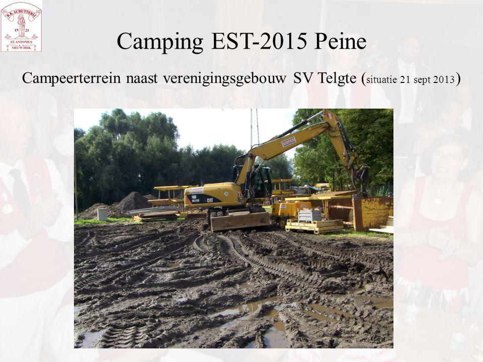 Camping EST-2015 Peine Campeerterrein naast verenigingsgebouw SV Telgte ( situatie 21 sept 2013 )