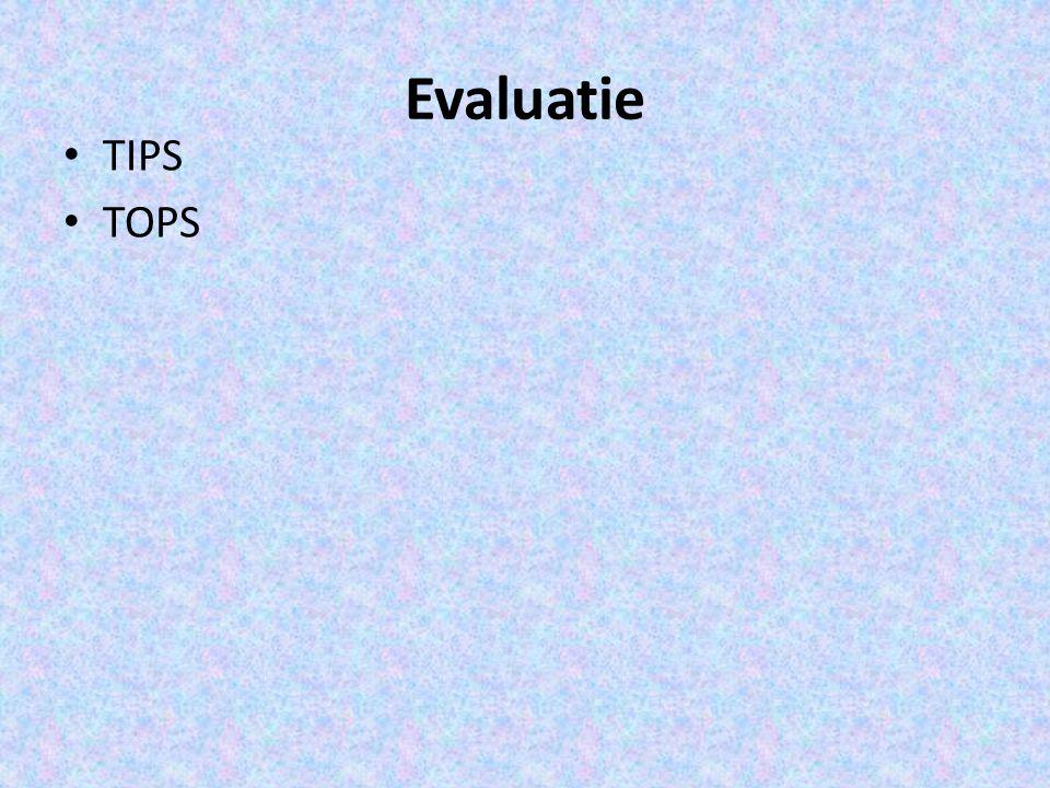 Evaluatie TIPS TOPS