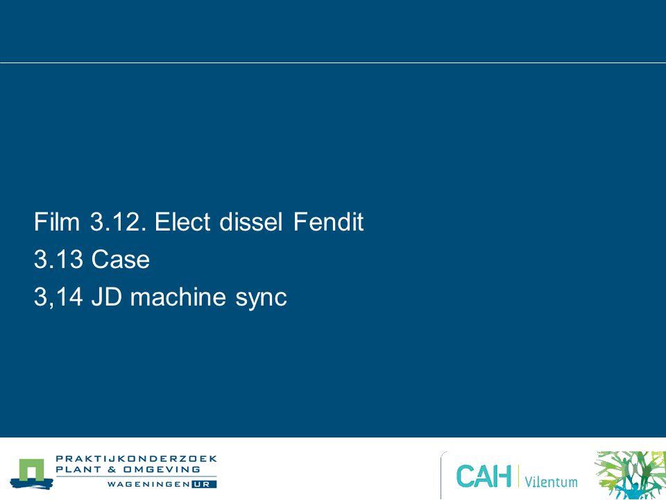 Film 3.12. Elect dissel Fendit 3.13 Case 3,14 JD machine sync