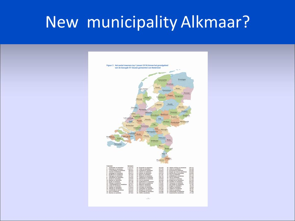 New municipality Alkmaar