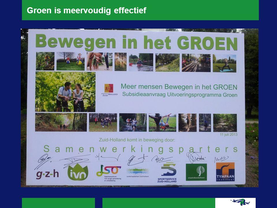 Groen is meervoudig effectief