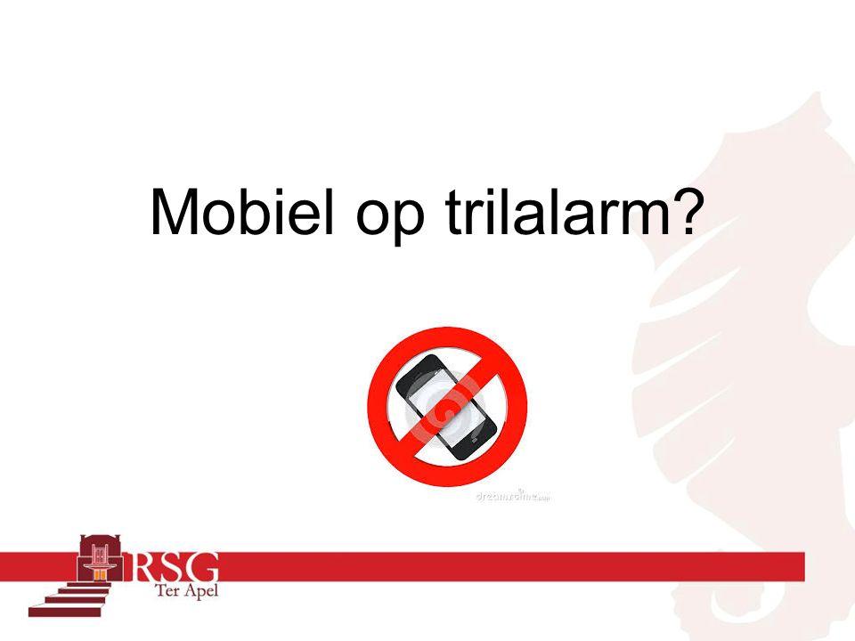Mobiel op trilalarm