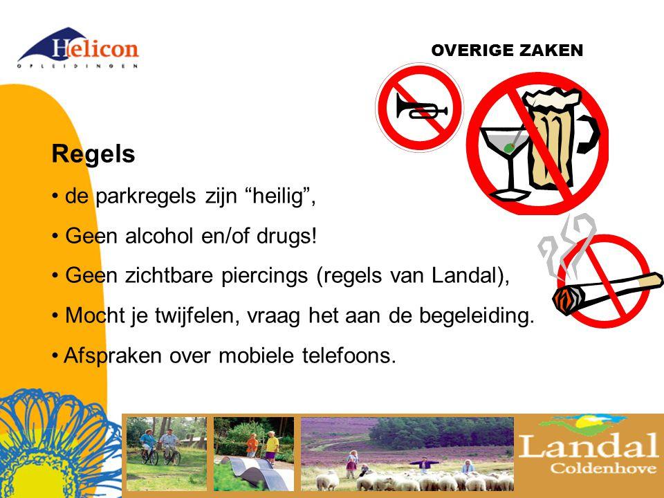 OVERIGE ZAKEN Regels de parkregels zijn heilig , Geen alcohol en/of drugs.