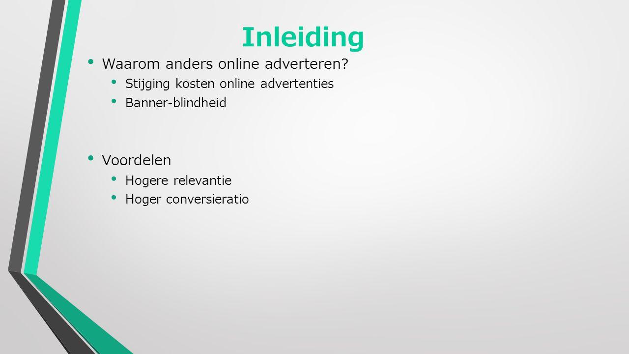 Inleiding Waarom anders online adverteren.