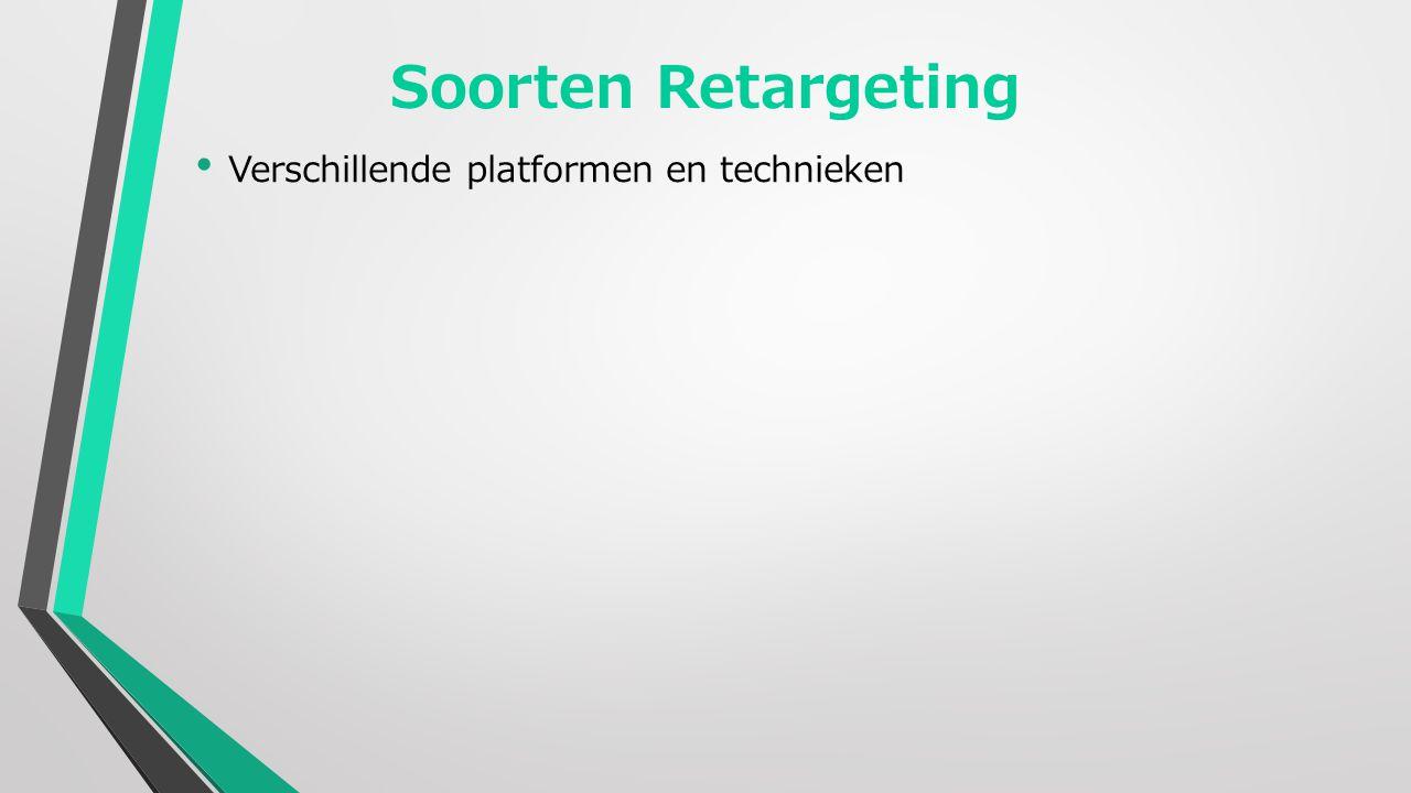 Soorten Retargeting Verschillende platformen en technieken