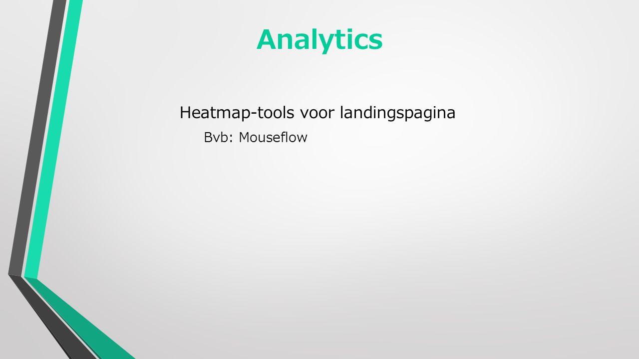 Analytics Heatmap-tools voor landingspagina Bvb: Mouseflow