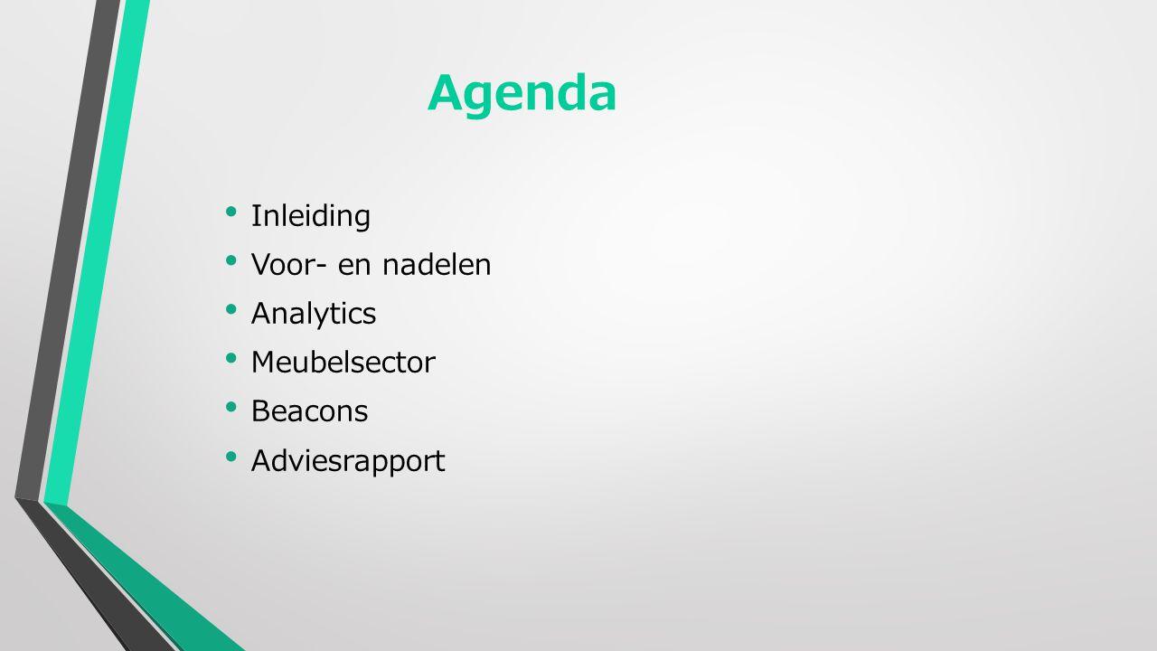 Agenda Inleiding Voor- en nadelen Analytics Meubelsector Beacons Adviesrapport