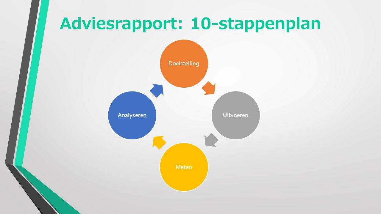 Adviesrapport: 10-stappenplan DoelstellingUitvoerenMetenAnalyseren