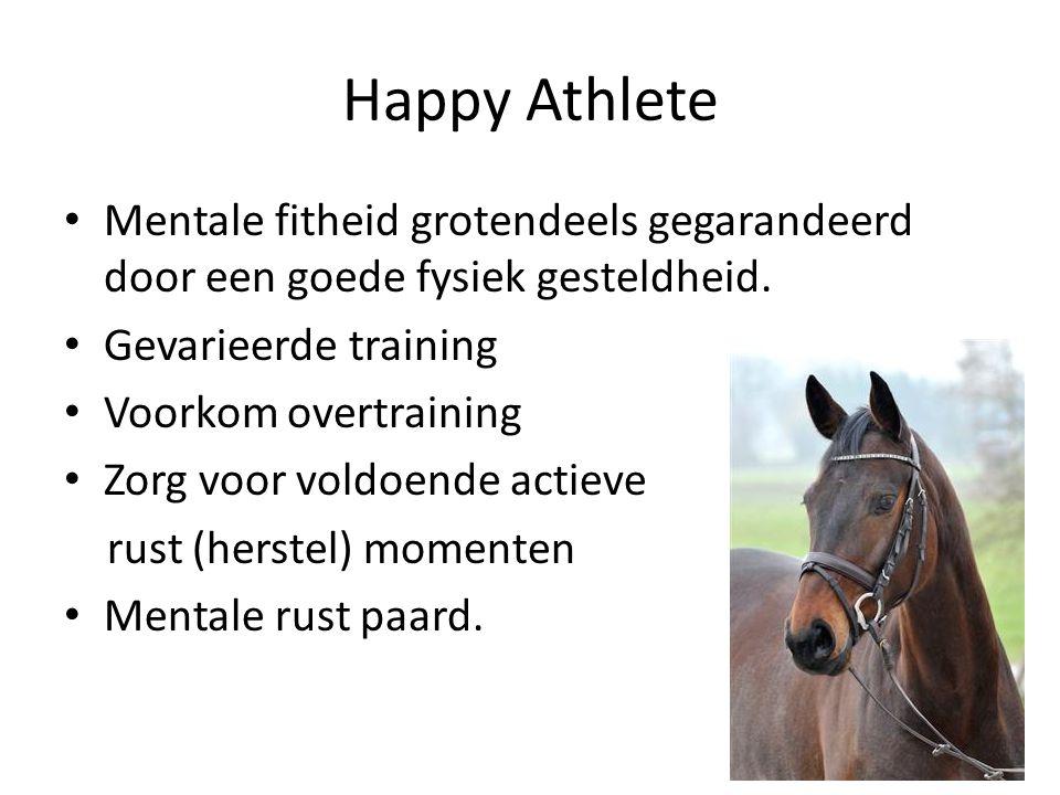 Happy Athlete Mentale fitheid grotendeels gegarandeerd door een goede fysiek gesteldheid.