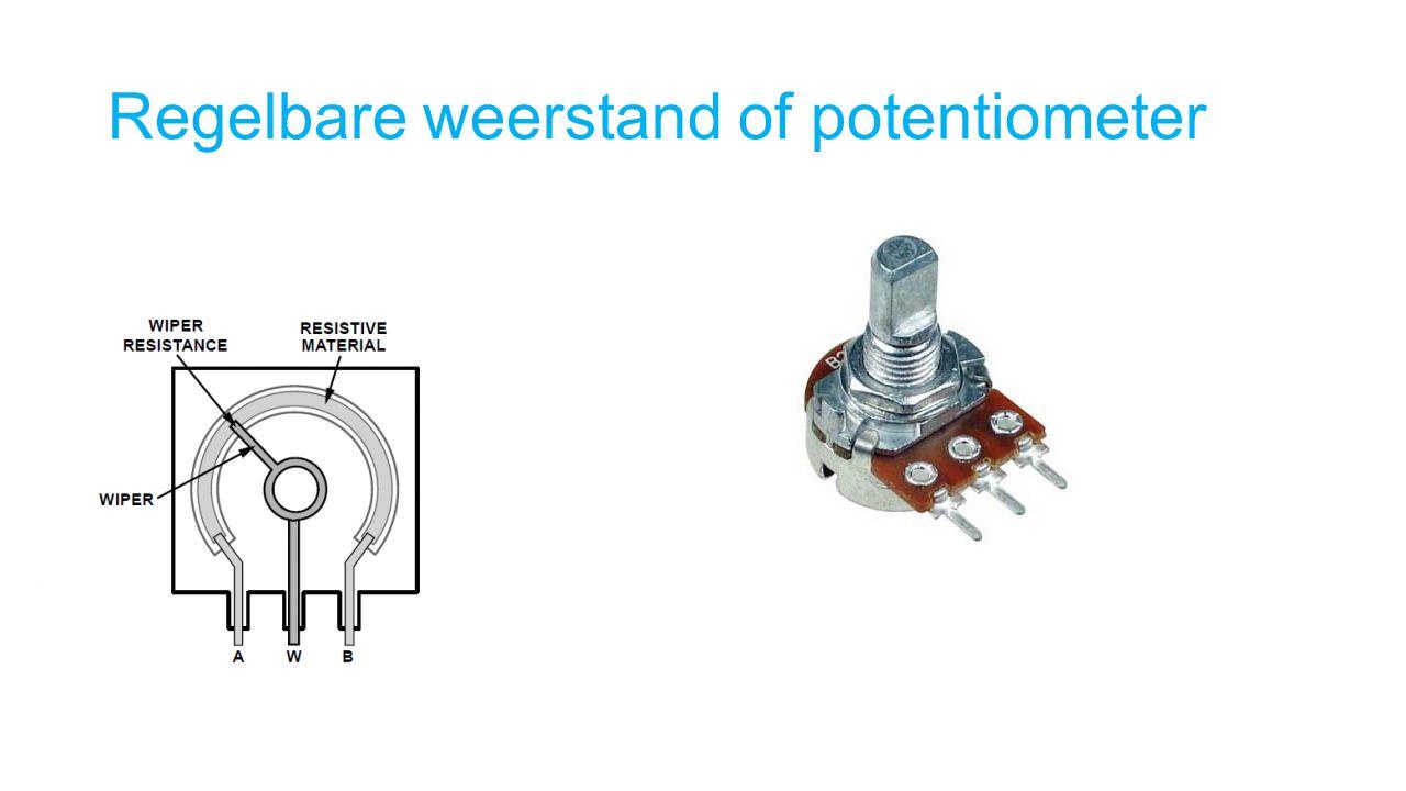 Regelbare weerstand of potentiometer