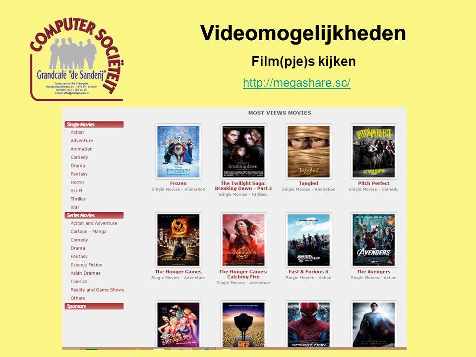 Videomogelijkheden Film(pje)s kijken http://megashare.sc/