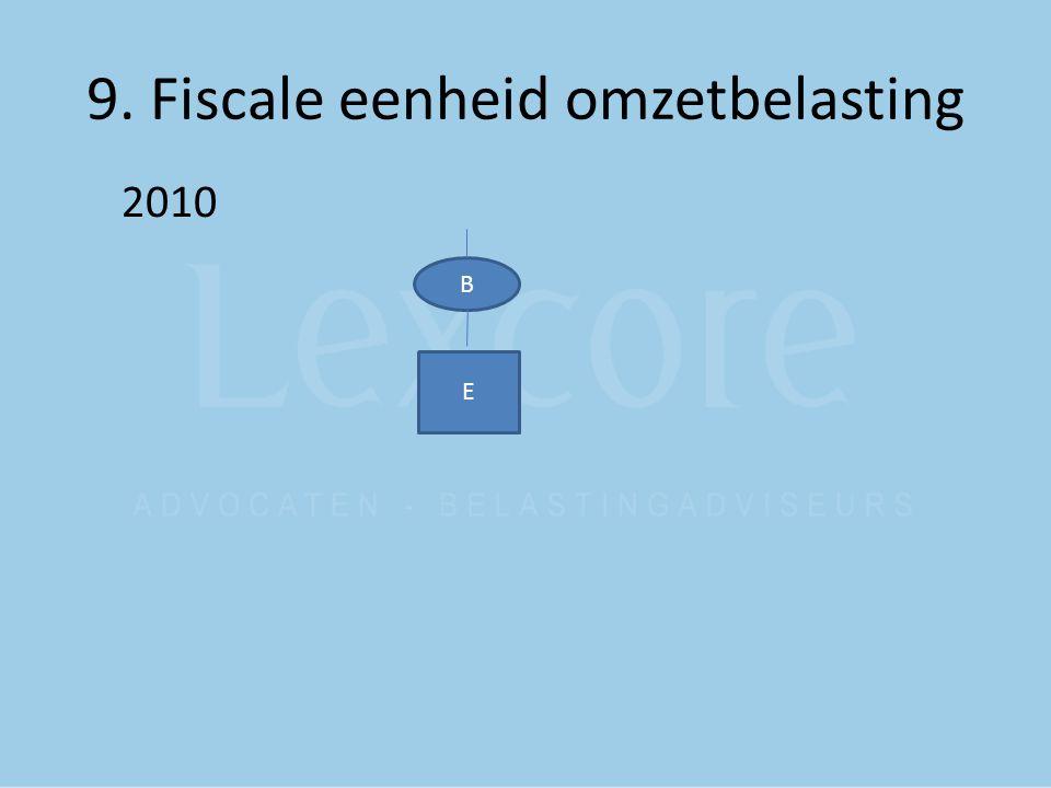 9. Fiscale eenheid omzetbelasting 2010 B E