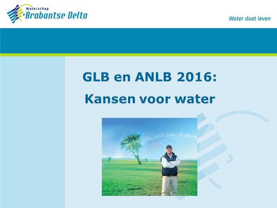 GLB en ANLB 2016: Kansen voor water