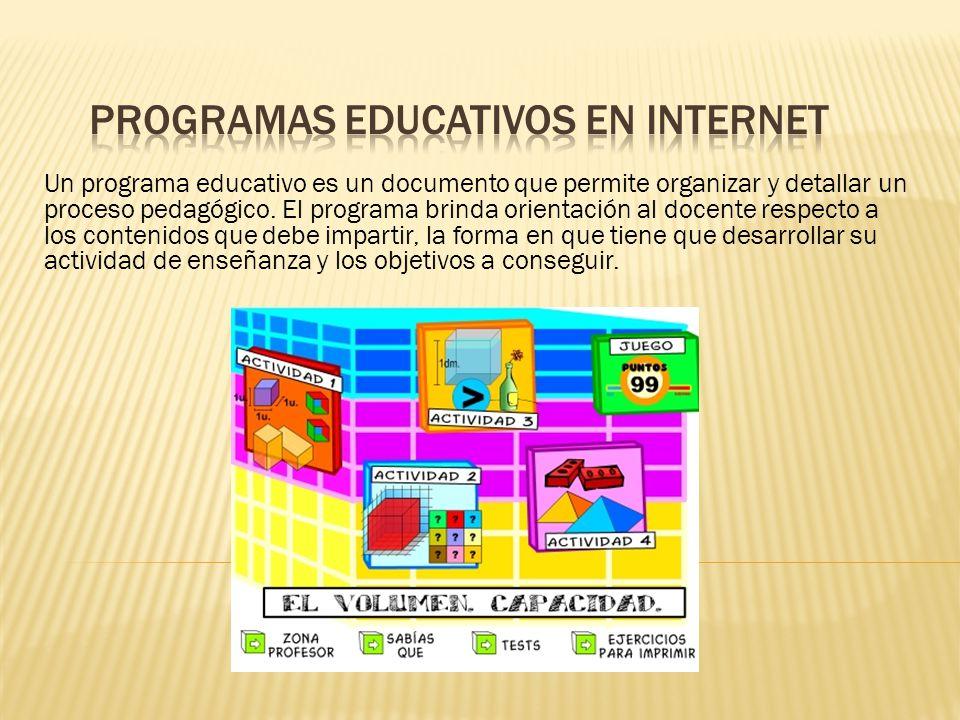 Un programa educativo es un documento que permite organizar y detallar un proceso pedagógico.