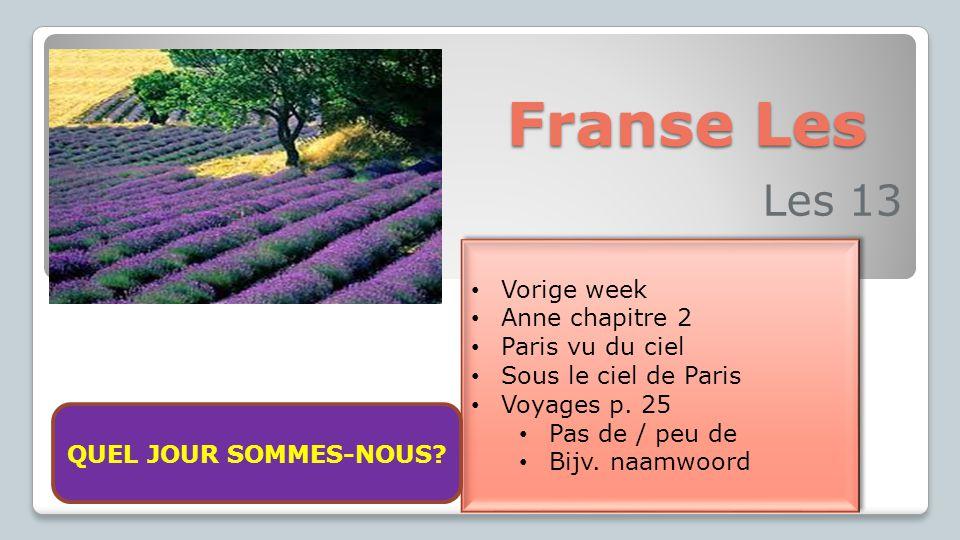 Franse Les Les 13 Vorige week Anne chapitre 2 Paris vu du ciel Sous le ciel de Paris Voyages p.