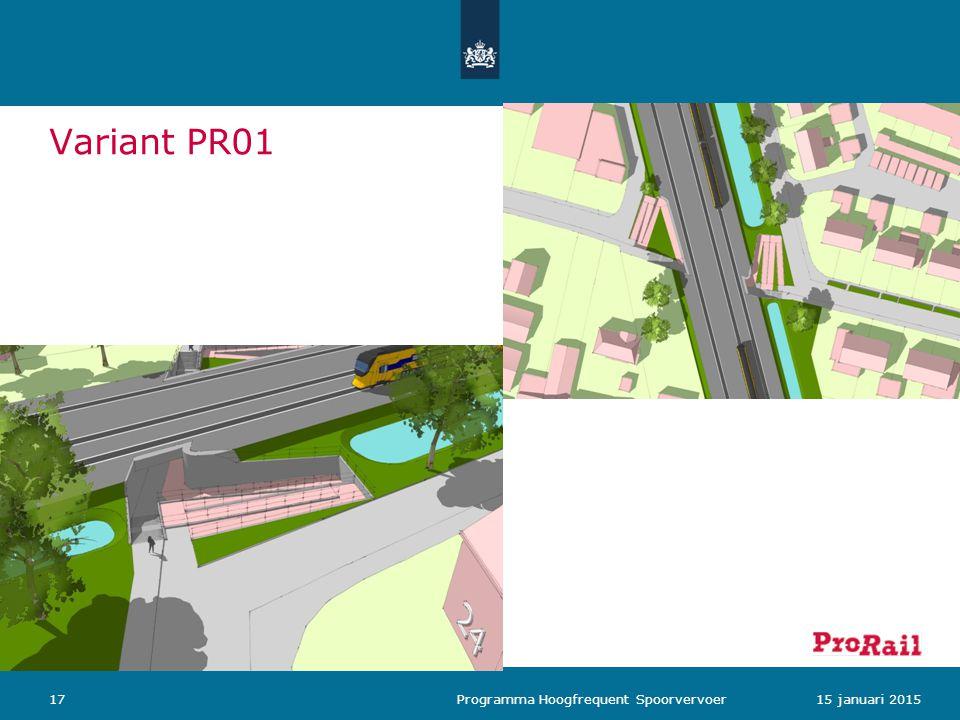 Variant PR01 1715 januari 2015 Programma Hoogfrequent Spoorvervoer