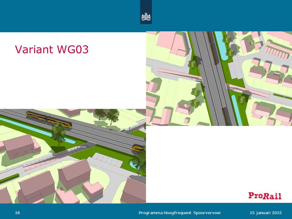 Variant WG03 1815 januari 2015 Programma Hoogfrequent Spoorvervoer