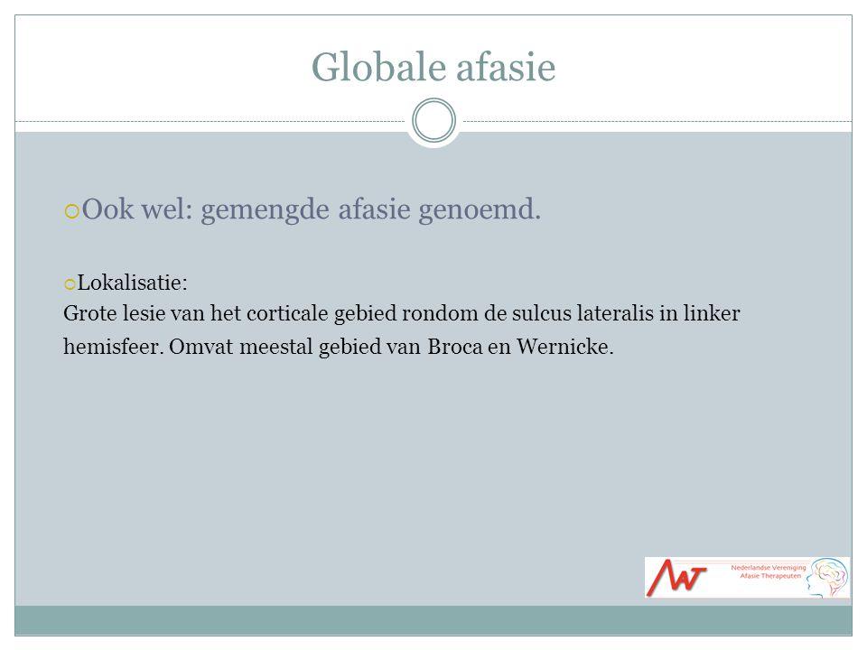 Globale afasie  Ook wel: gemengde afasie genoemd.