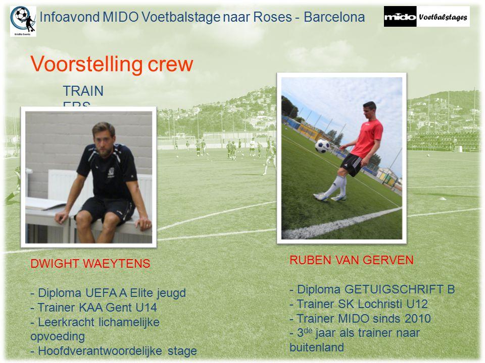 Voorstelling crew TRAIN ERS DWIGHT WAEYTENS - Diploma UEFA A Elite jeugd - Trainer KAA Gent U14 - Leerkracht lichamelijke opvoeding - Hoofdverantwoord