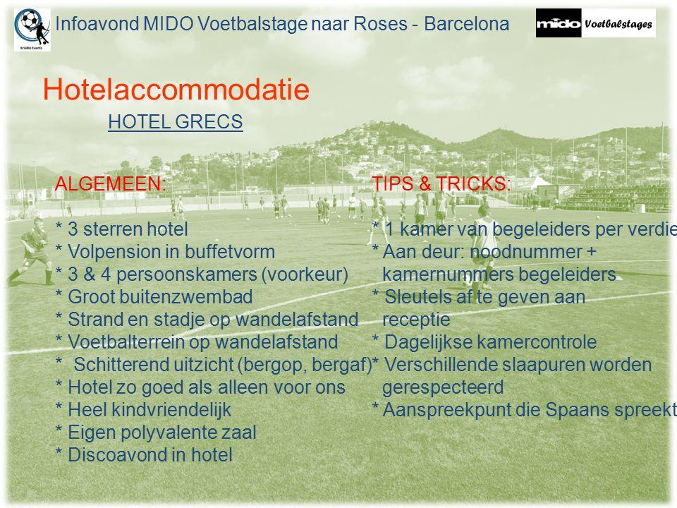Hotelaccommodatie ALGEMEEN: * 3 sterren hotel * Volpension in buffetvorm * 3 & 4 persoonskamers (voorkeur) * Groot buitenzwembad * Strand en stadje op