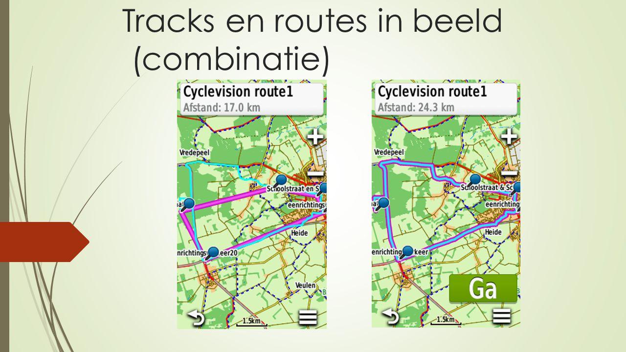 Tracks en routes in beeld (combinatie)