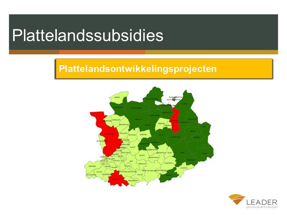 Plattelandssubsidies Plattelandsontwikkelingsprojecten