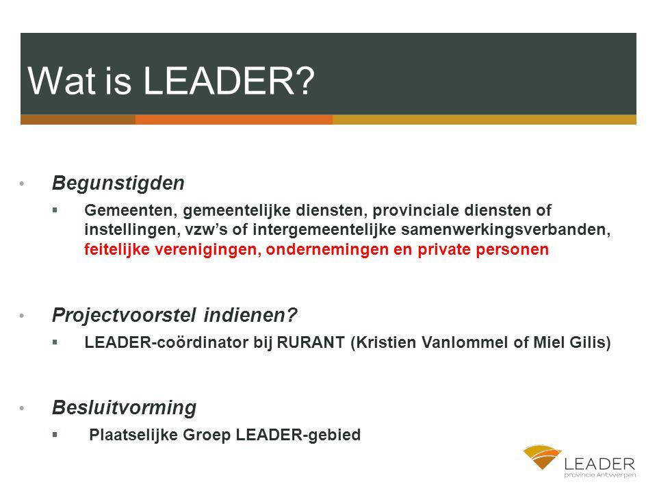 Wat is LEADER.