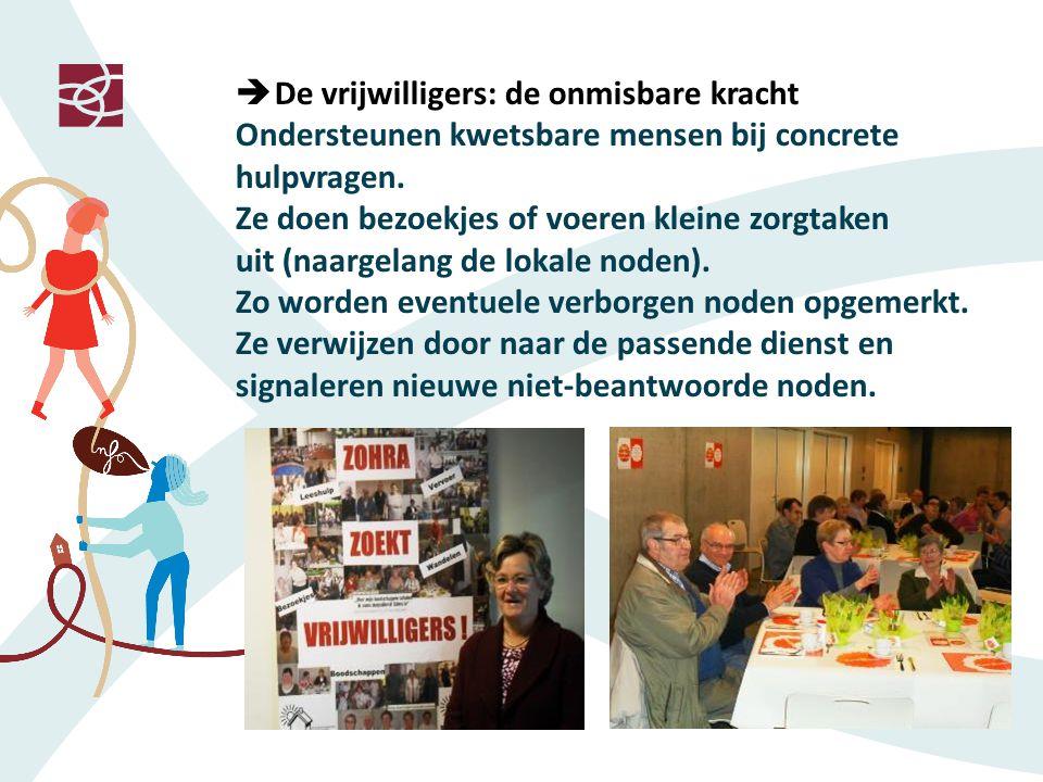  De vrijwilligers: de onmisbare kracht Ondersteunen kwetsbare mensen bij concrete hulpvragen.