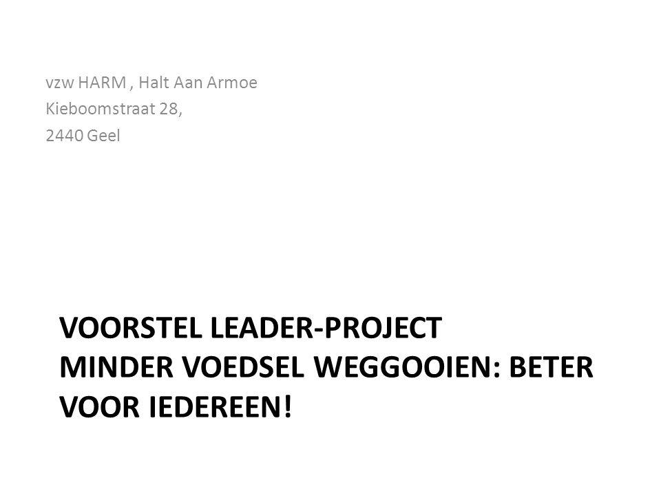 VOORSTEL LEADER-PROJECT MINDER VOEDSEL WEGGOOIEN: BETER VOOR IEDEREEN.