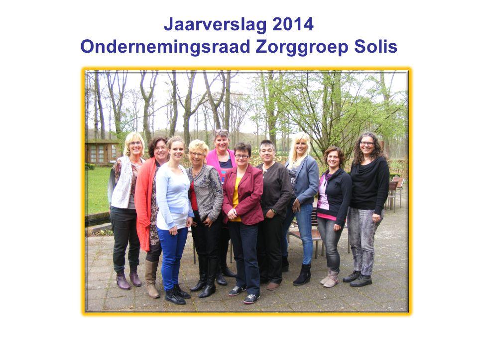 Jaarverslag 2014 Ondernemingsraad Zorggroep Solis