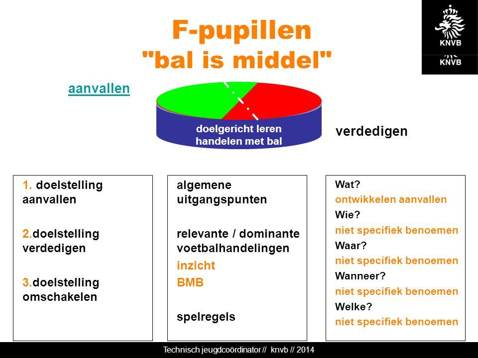 Technisch jeugdcoördinator // knvb // 2014 doelgericht leren handelen met bal F-pupillen