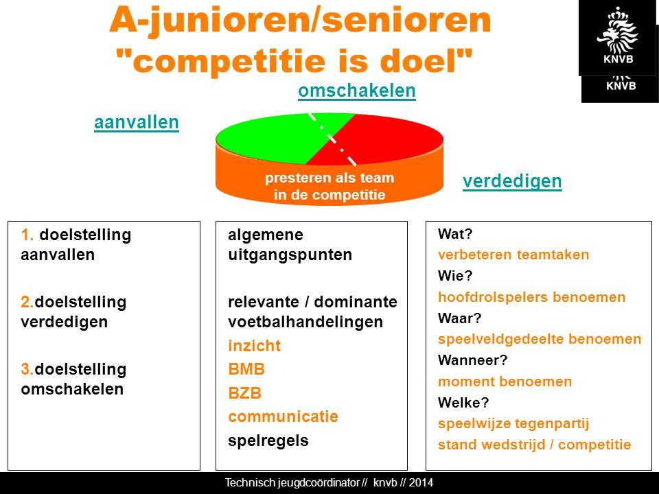 Technisch jeugdcoördinator // knvb // 2014 presteren als team in de competitie A-junioren/senioren