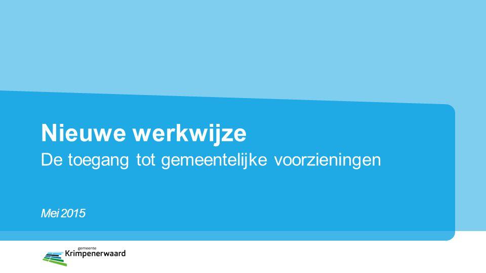 Een nieuwe gemeente Gemeente Krimpenerwaard bestaat uit Voormalige gemeenten Bergambacht Nederlek Ouderkerk Schoonhoven Vlist 11 kernen 54.142 inwoners 160 Km2