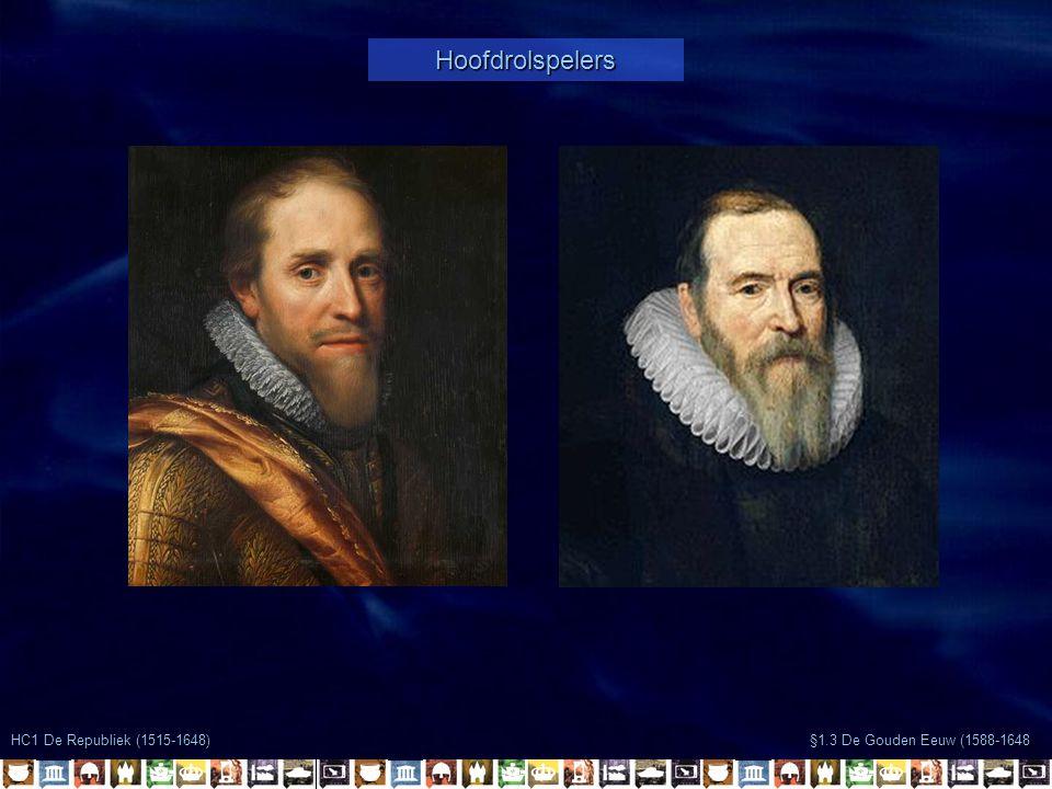 §1.3 De Gouden Eeuw (1588-1648 HC1 De Republiek (1515-1648) Hoofdrolspelers