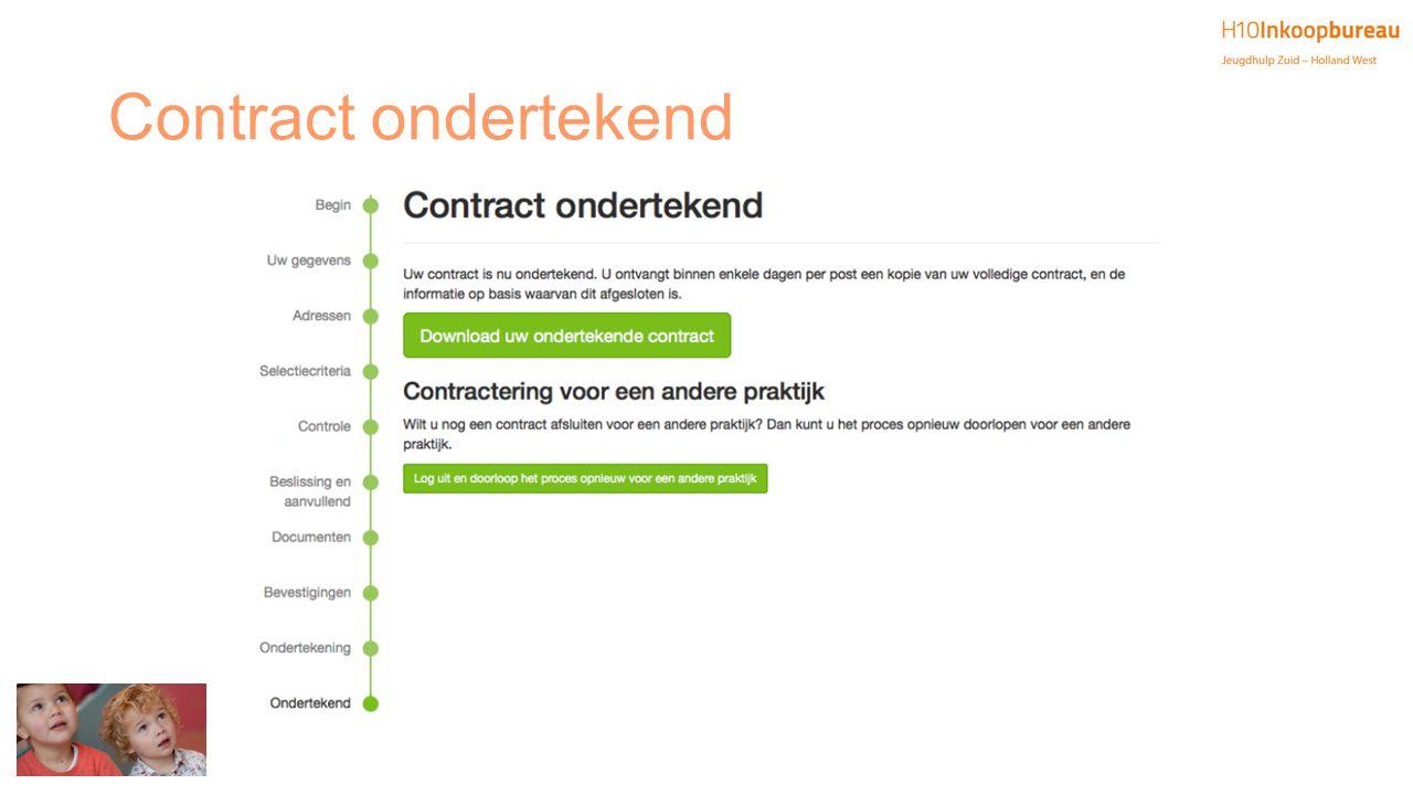 Contract ondertekend