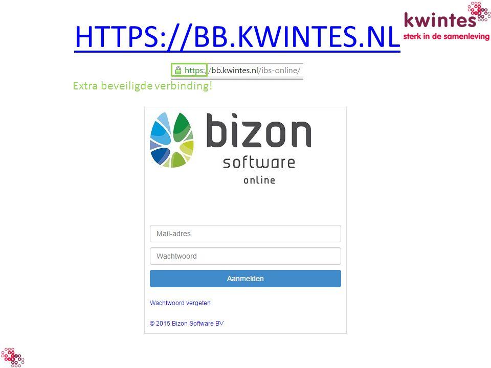 HTTPS://BB.KWINTES.NL Extra beveiligde verbinding!