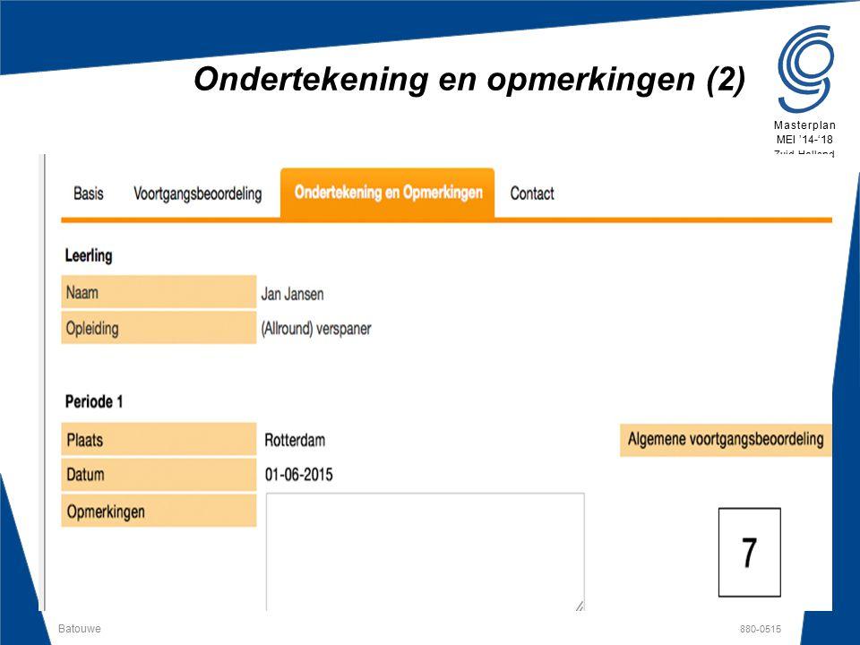 Batouwe 880-0515 Masterplan MEI '14-'18 Zuid-Holland Ondertekening en opmerkingen (2)
