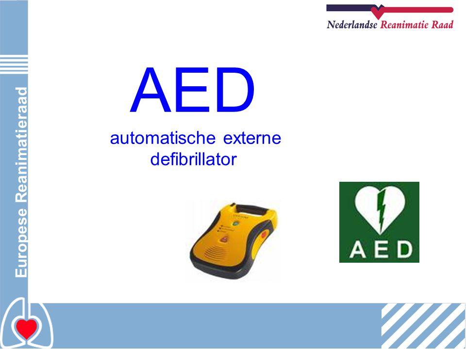 Europese Reanimatieraad AED automatische externe defibrillator