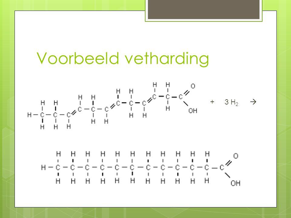 Voorbeeld vetharding + 3 H 2 