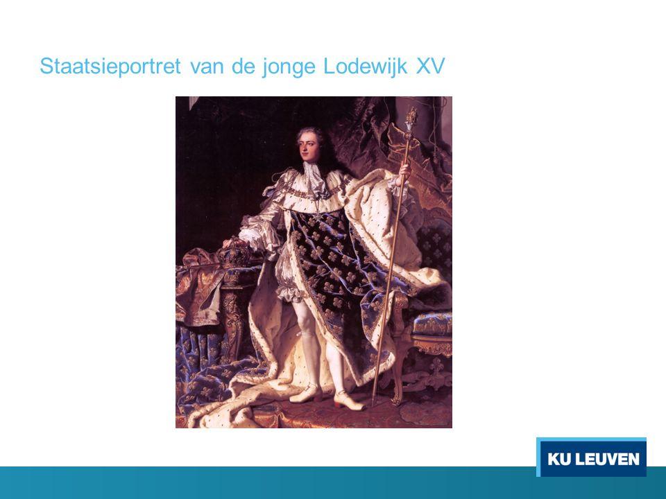Staatsieportret van de jonge Lodewijk XV