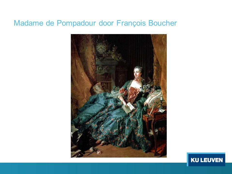 Madame de Pompadour door François Boucher