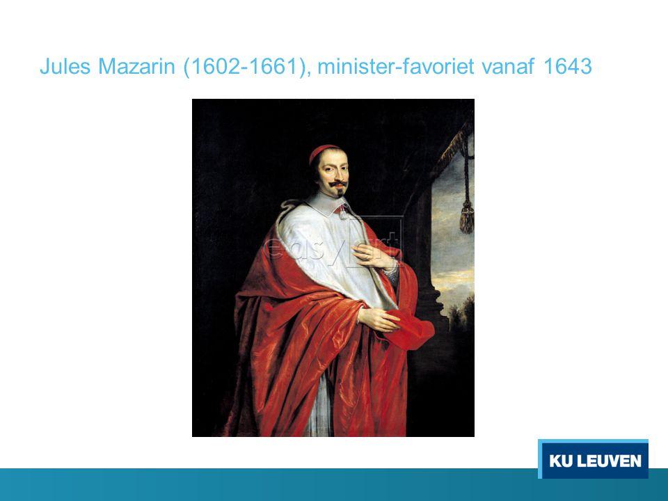 Jules Mazarin (1602-1661), minister-favoriet vanaf 1643