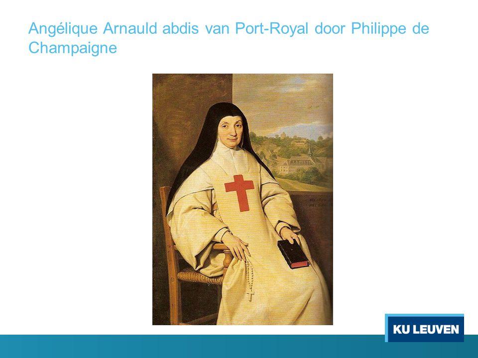 Angélique Arnauld abdis van Port-Royal door Philippe de Champaigne