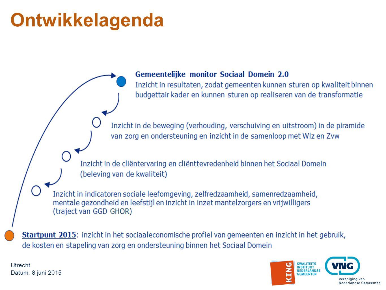 Utrecht Datum: 8 juni 2015 Ontwikkelagenda