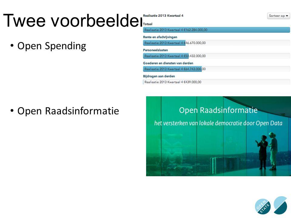 Twee voorbeelden Open Spending Open Raadsinformatie