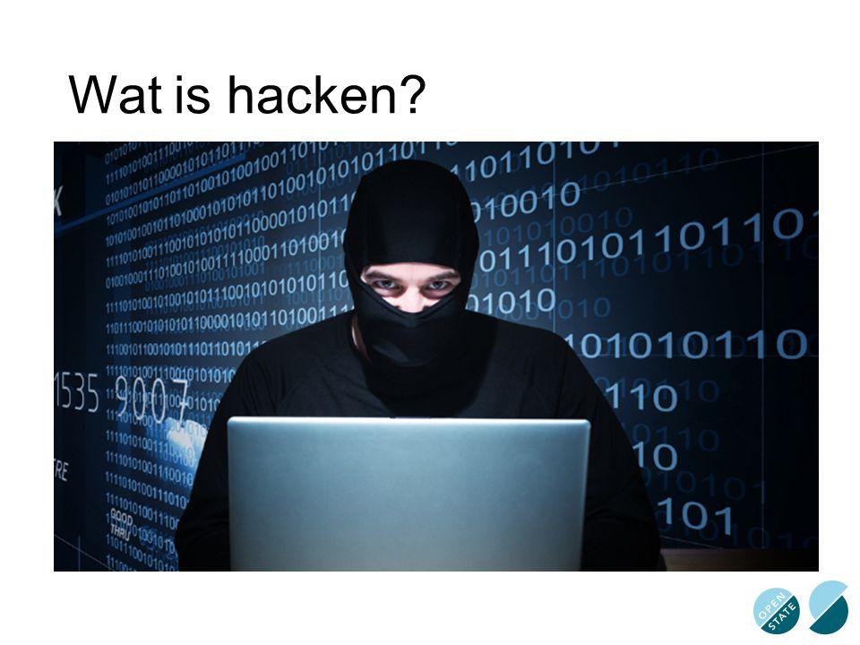 Wat is hacken?