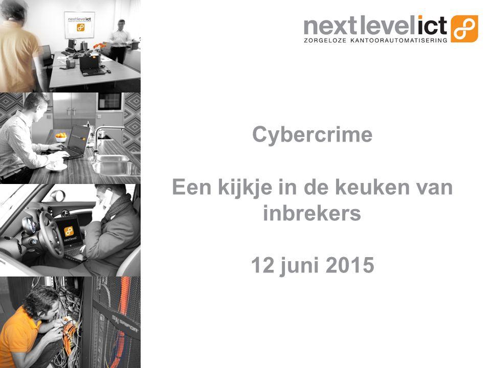 Cybercrime Een kijkje in de keuken van inbrekers 12 juni 2015